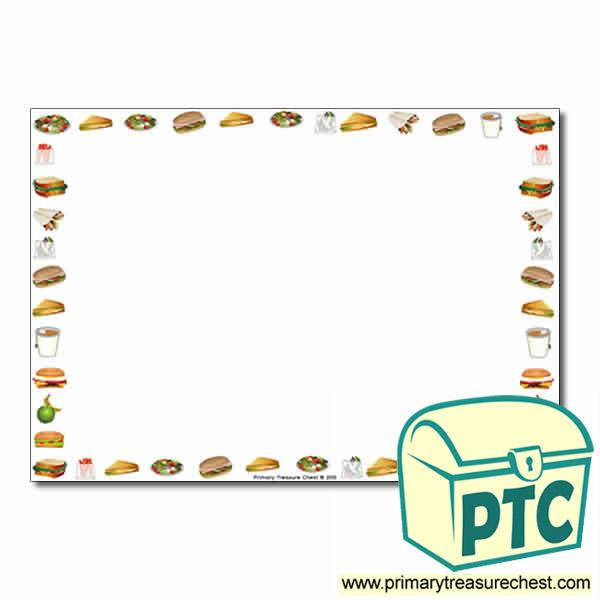 sandwich shop themed landscape page border  writing frame tea pot clip art - free tea pot clip art - free