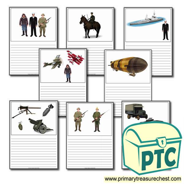 World War One Themed Worksheets Primary Treasure Chest