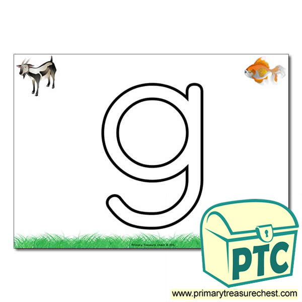 lowercase g in bubble letters