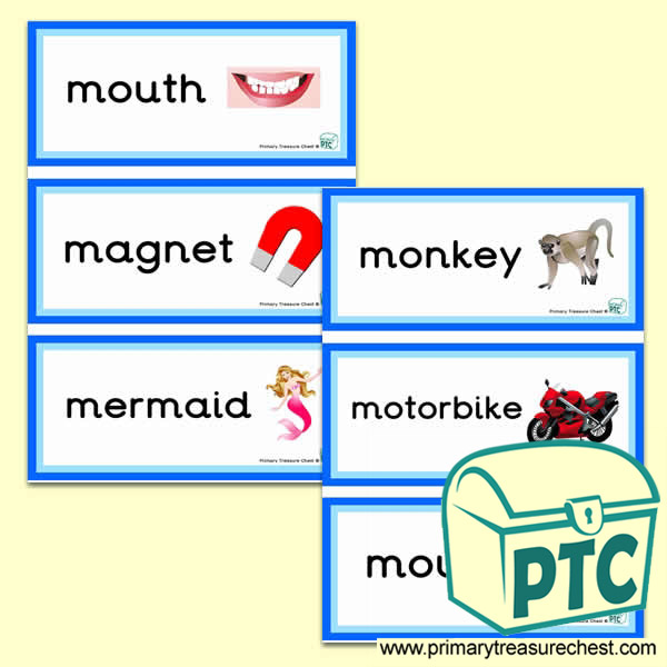 Letter M Themed Flashcards Phonics Teaching Resources