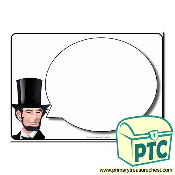 Abraham Lincoln Speech Bubble Worksheet High quality resources – Abraham Lincoln Worksheet
