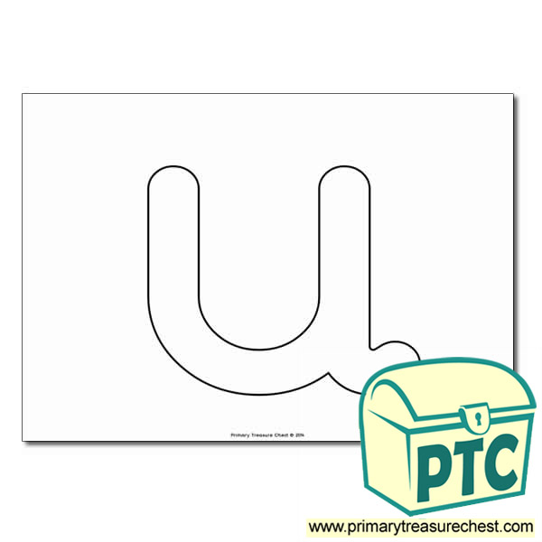 U Bubble Letter Formation Activity No Images Primary Treasure Chest