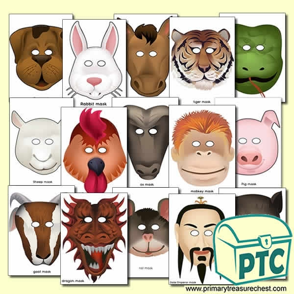 chinese new year role play masks - Chinese New Year Animal