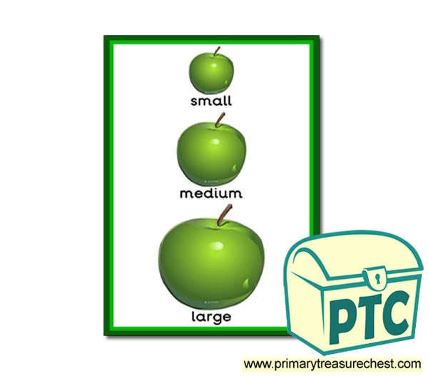 apple themed sizes poster autumn resources for primary schools