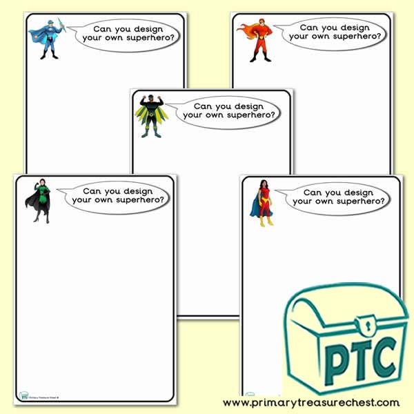 Design Your Own Superheroes Worksheets