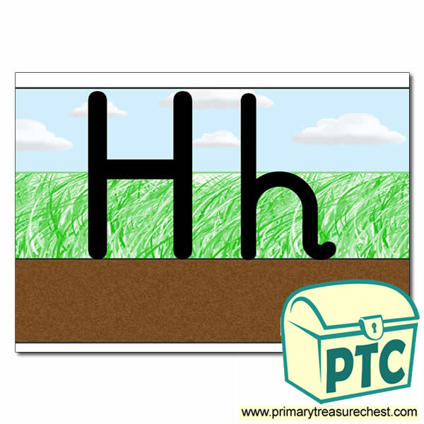Letter Formation Hh Ground Grass Sky Primary Resources