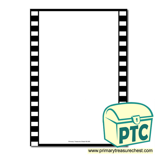 Camera Film Themed Page Border Writing Frame No Lines