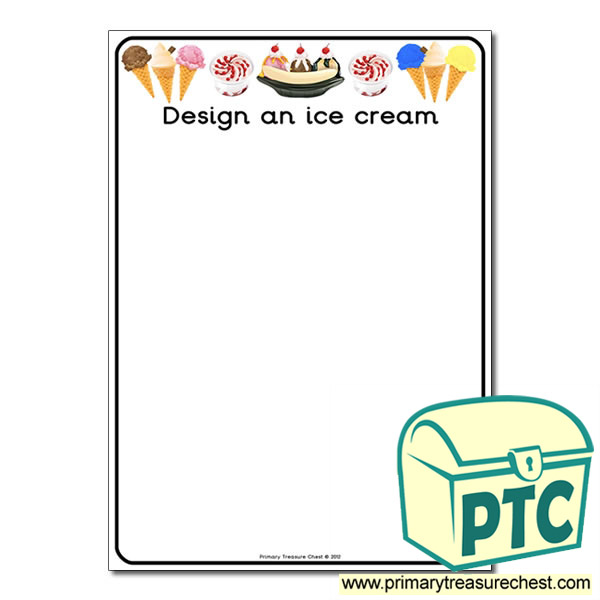 design your own ice cream worksheet primary treasure chest. Black Bedroom Furniture Sets. Home Design Ideas