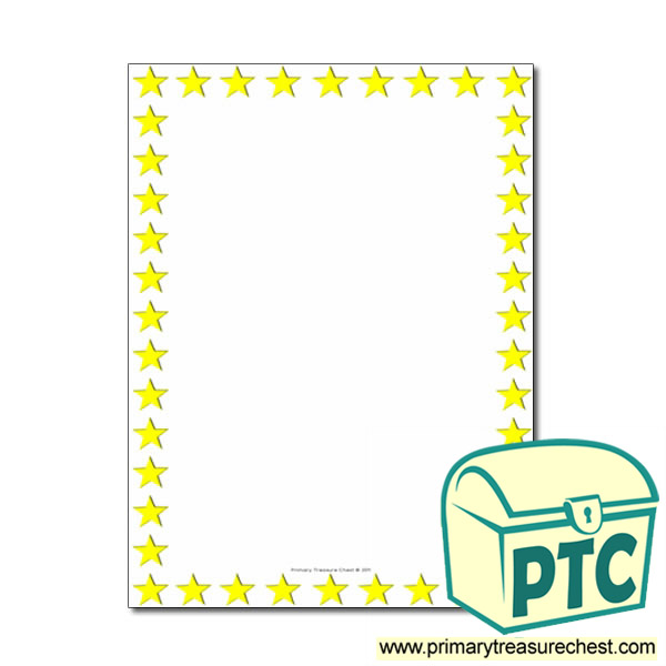 Star Themed Page Border Writing Frame No Lines