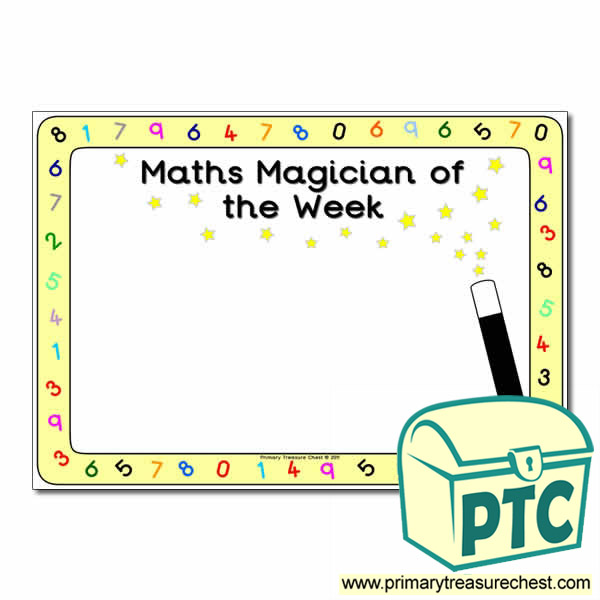 maths magician of the week poster