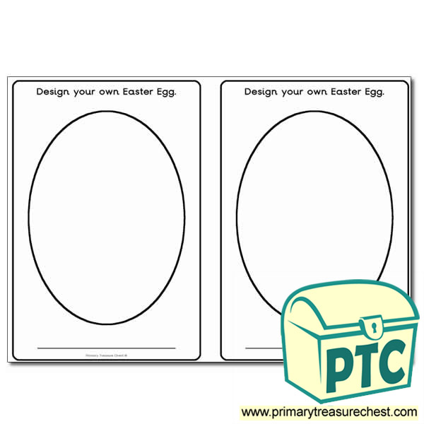 Create Your Own Pattern Worksheet : Design your own easter egg worksheet primary treasure chest