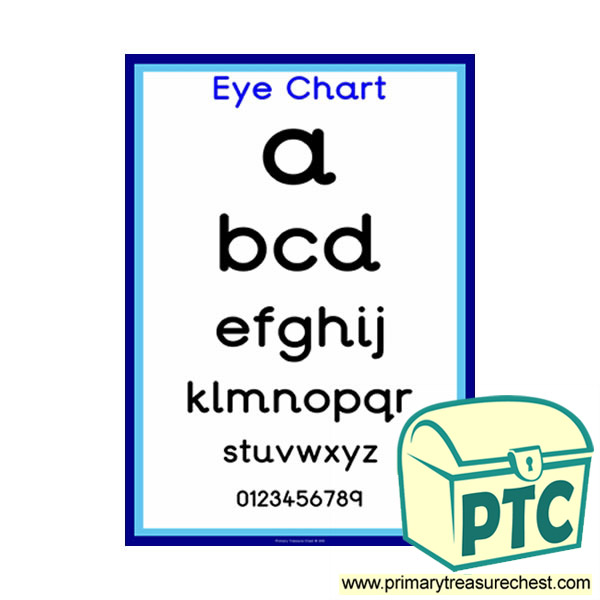 Opticians Role Play Eye Chart Poster Primary Treasure Chest