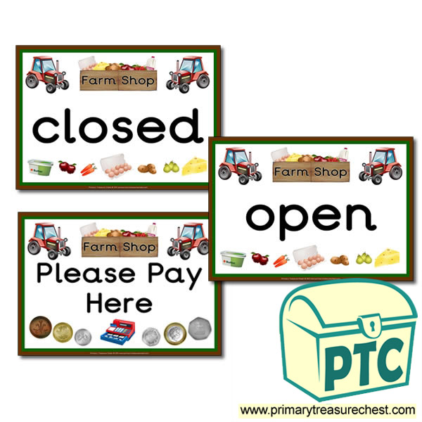 Farm Shop Role Play Signs  Primary Treasure Chest. Holiday Signs Of Stroke. Xerosis Signs. Toddler Rash Signs. Point Signs Of Stroke. Lights Camera Action Signs. Mosaic Signs Of Stroke. Round Stop Signs Of Stroke. Left Turn Signs Of Stroke