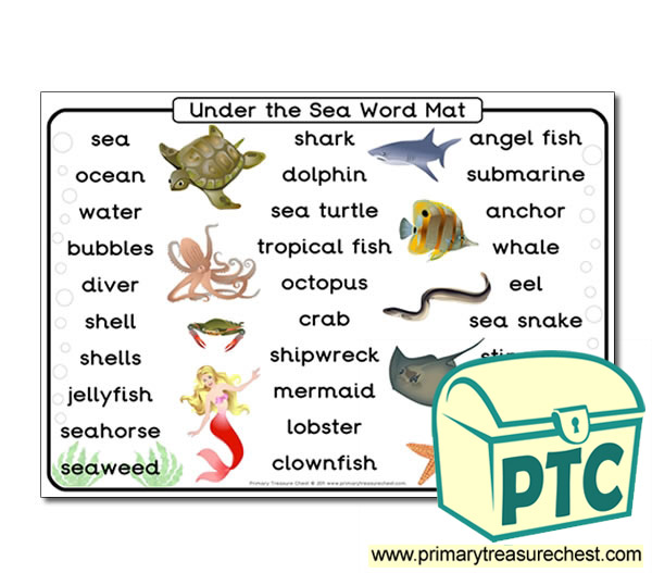 Under The Sea Themed Word Mat Primary Resources For